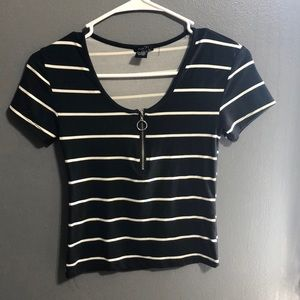 A black and white striped shirt.